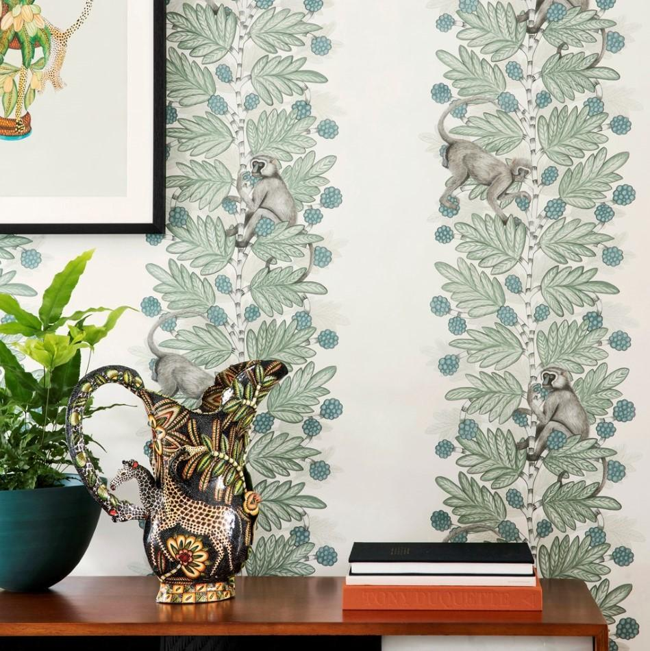 Ardmore Blue And Green Acacia Wallpaper By Cole And Son