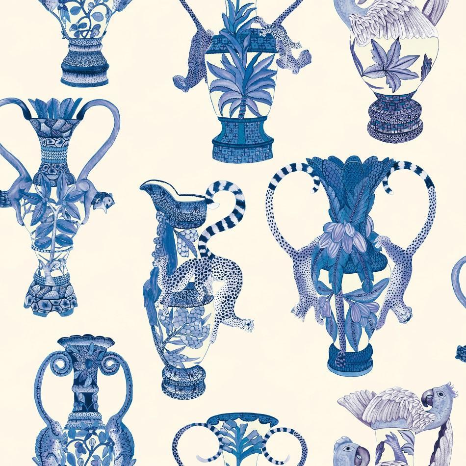 Cole and Son Wallpapers Ardmore China Blue Khulu Vases Wallpaper