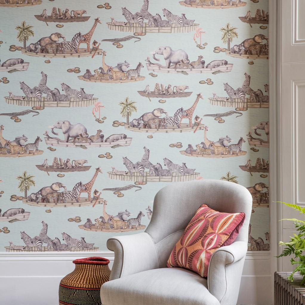 Cole and Son Wallpapers Ardmore Pastel Blue Zambezi Wallpaper