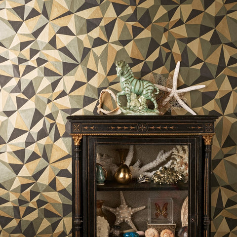 Cole and Son Wallpapers Curio Black and Gold Quartz Wallpaper
