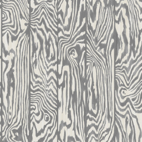 Cole and Son Wallpapers Curio Dark Grey and White Zebrawood Wallpaper