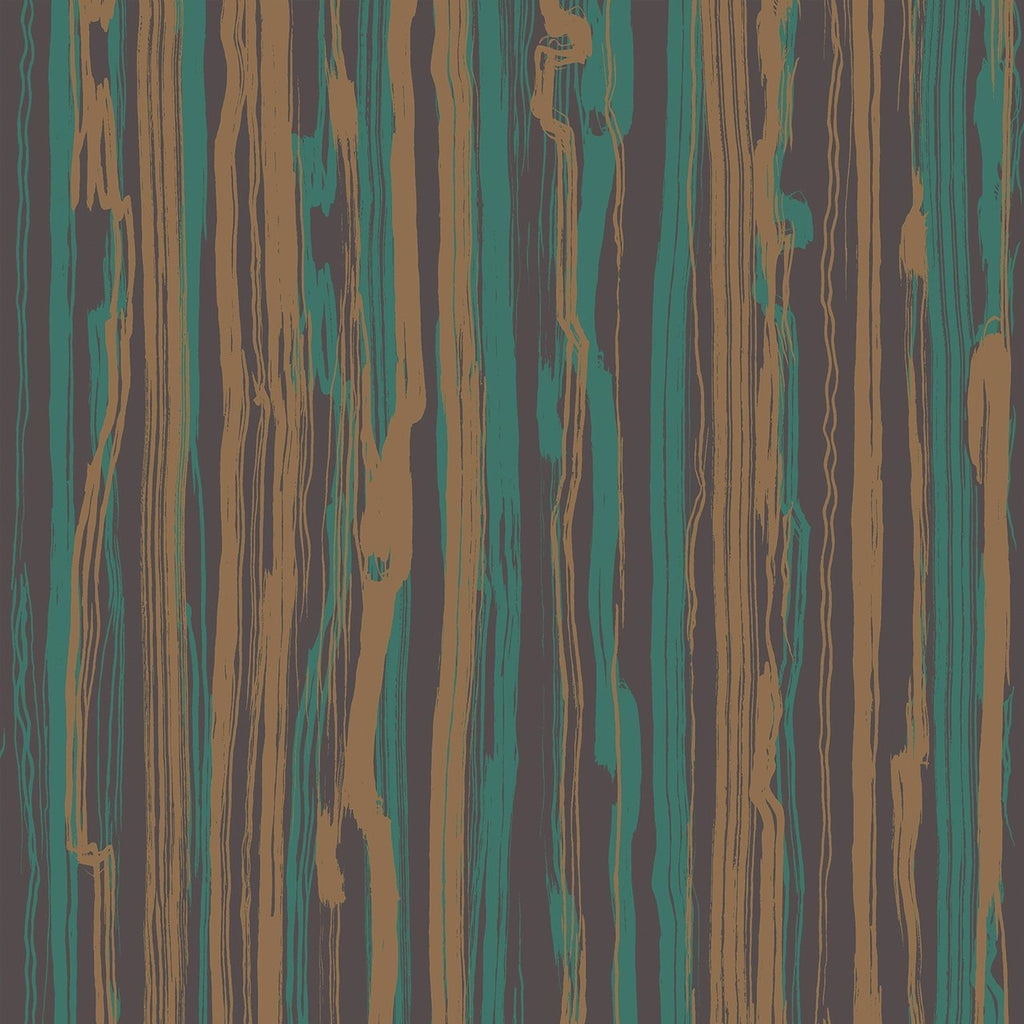 Cole And Son Emerald Green And Gold Abstract Stripe