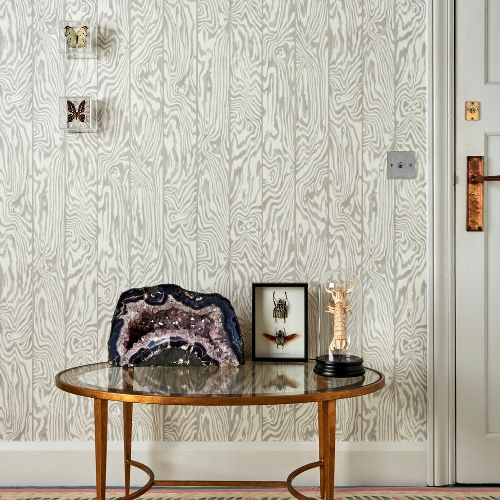 Cole and Son Wallpapers Curio Grey Zebrawood Wallpaper