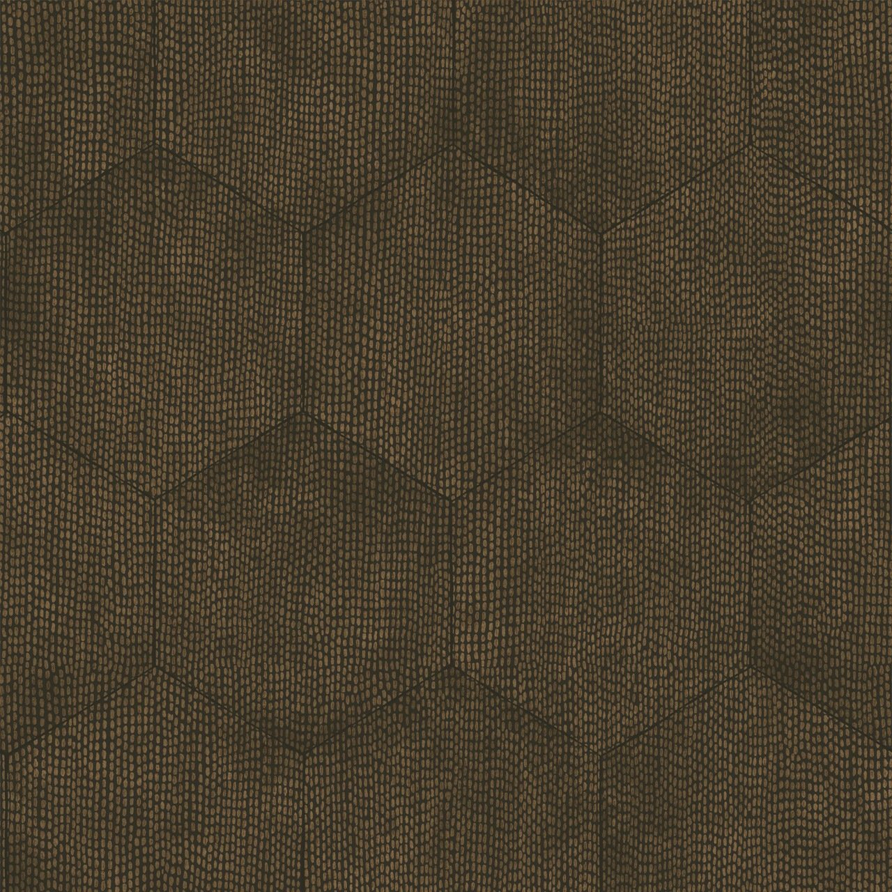 Curio Mineral Charcoal And Bronze Hexagon Wallpaper By