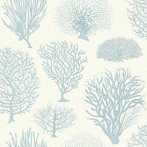 Cole and Son Wallpapers Curio Seafern Blue Trees Wallpaper