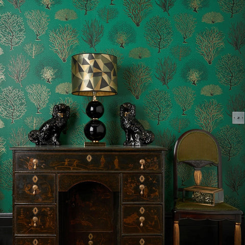 Cole and Son Wallpapers Curio Seafern Emerald Trees Wallpaper