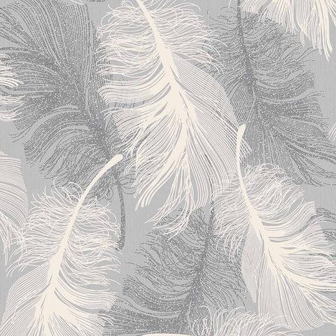 Coloroll Wallpapers Feather Dappled Grey Wallpaper