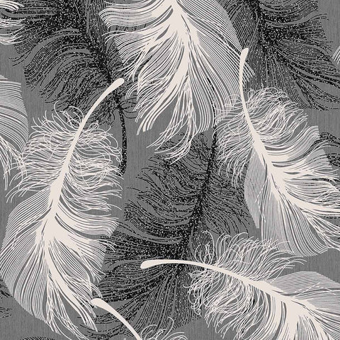 Coloroll Wallpapers Feather Monochrome Wallpaper