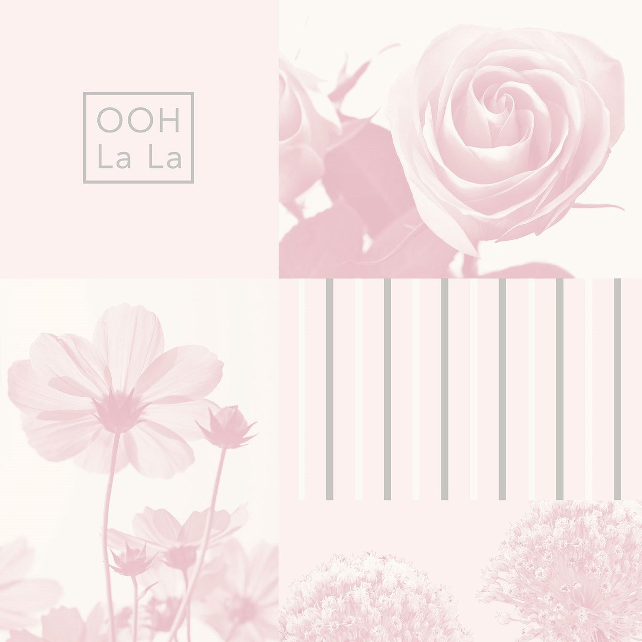 Coco Soft Pink Flower Collage Wallpaper By Crown