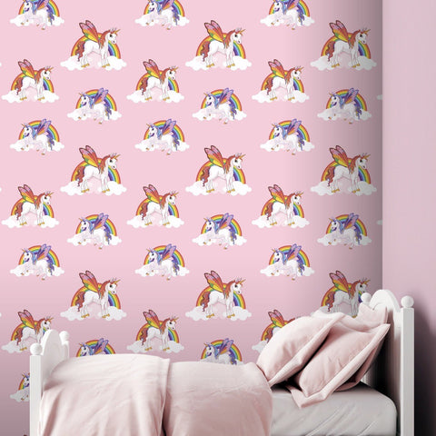 Debona Wallpapers Rainbow Pink Unicorn Wallpaper