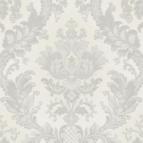Design ID Wallpapers Goodwood Silver Damask Wallpaper