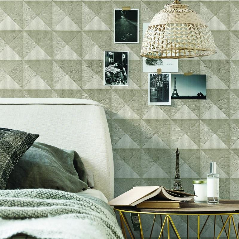 Beaux Arts 2 Cream Geometric Wallpaper