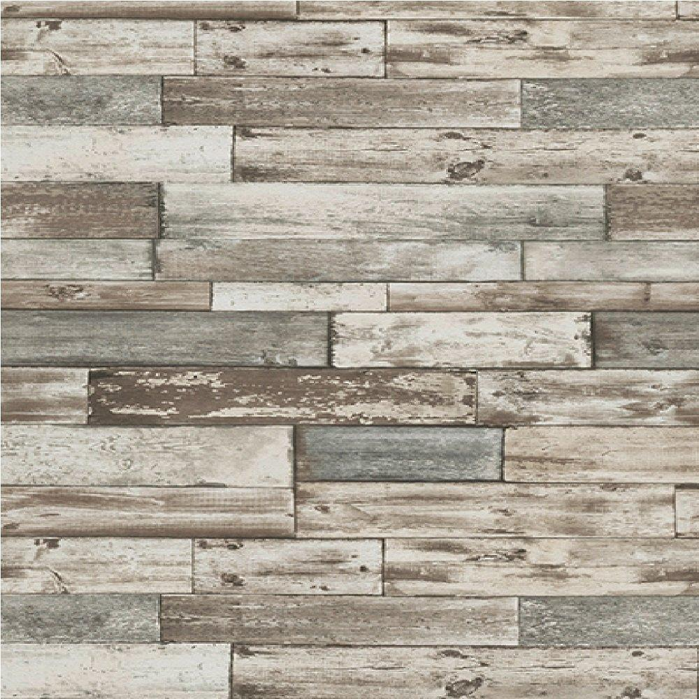 Erismann Wallpapers Authentic Grey Wood Panel Wallpaper