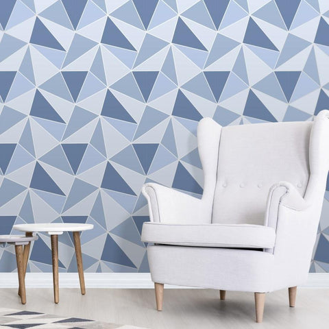 Fine Decor Wallpapers Apex Blue Geometric Wallpaper