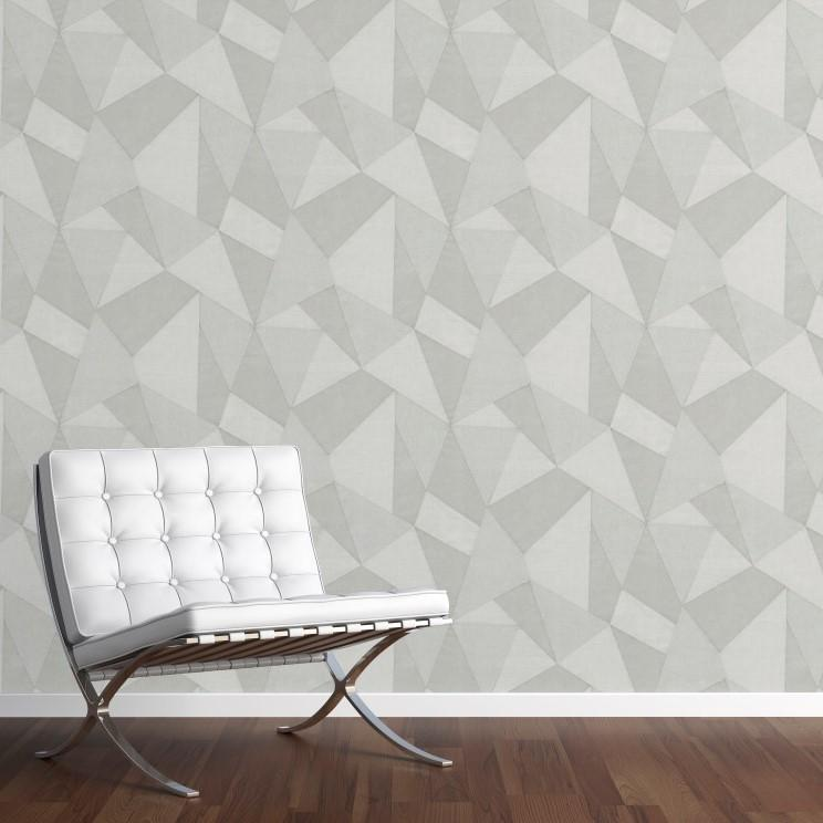 Fine Decor Wallpapers Milano 8 Large Fractal Light Grey Wallpaper