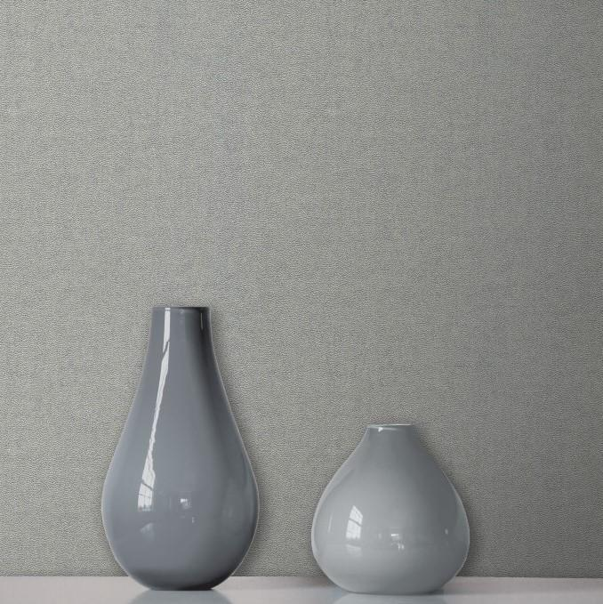 Fine Decor Wallpapers Milano 8 Large Plain Mid Grey Wallpaper
