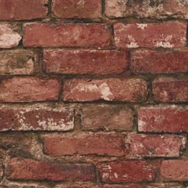 Fine Decor Wallpapers Rustic Brick   Red