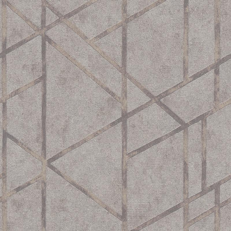 Francesca Geometric Concrete Grey / Silver Wallpaper