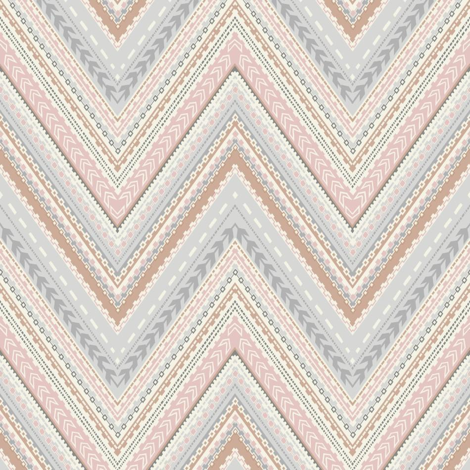 Pandora Rose Gold Pink Chevron Wallpaper