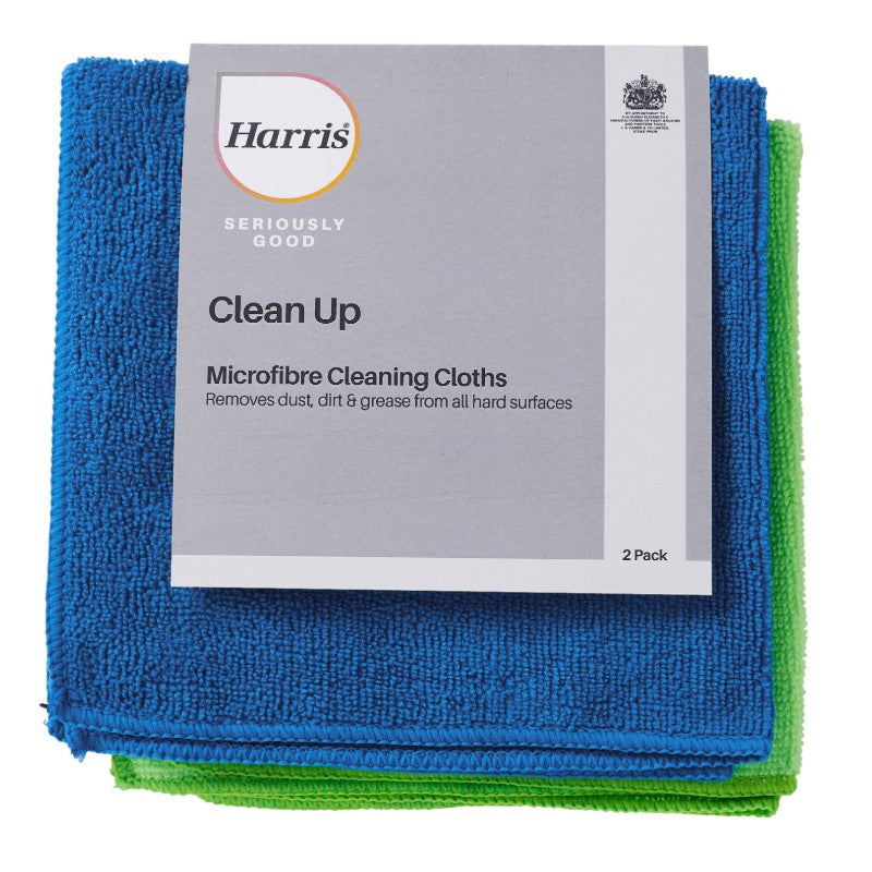 Harris Seriously Good Microfibre Cleaning Cloths (2 Pack)
