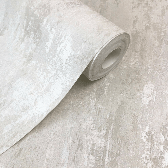 Havana Ivory White Distressed Texture Wallpaper