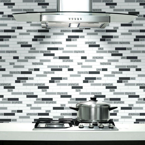 Holden Wallpapers Oblong Black and Silver Granite Wallpaper