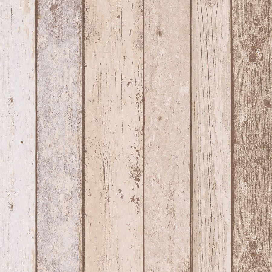 Il Decoro Cream Wood Panel Wallpaper