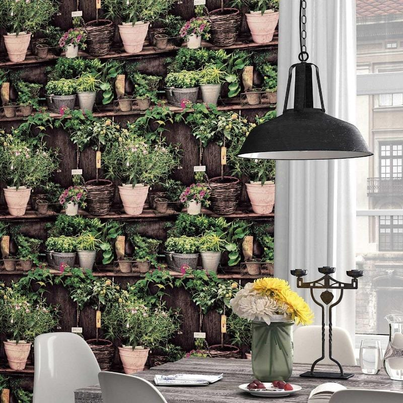 Instawalls Potting Shed Wallpaper