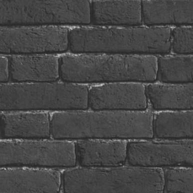 Muriva Wallpapers Bluff Black Brick Wallpaper
