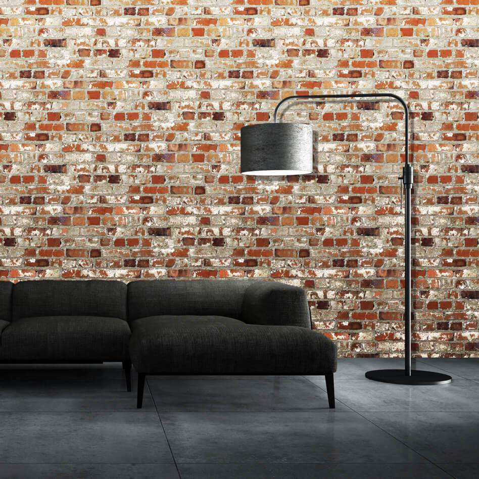 Muriva Wallpapers Novelties Red Loft Brick Wallpaper