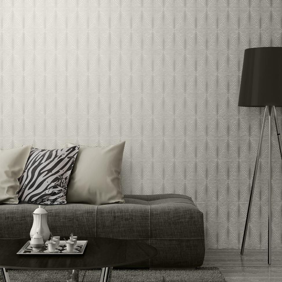 Muriva Wallpapers Solitaire Pearl Cream Geometric Wallpaper