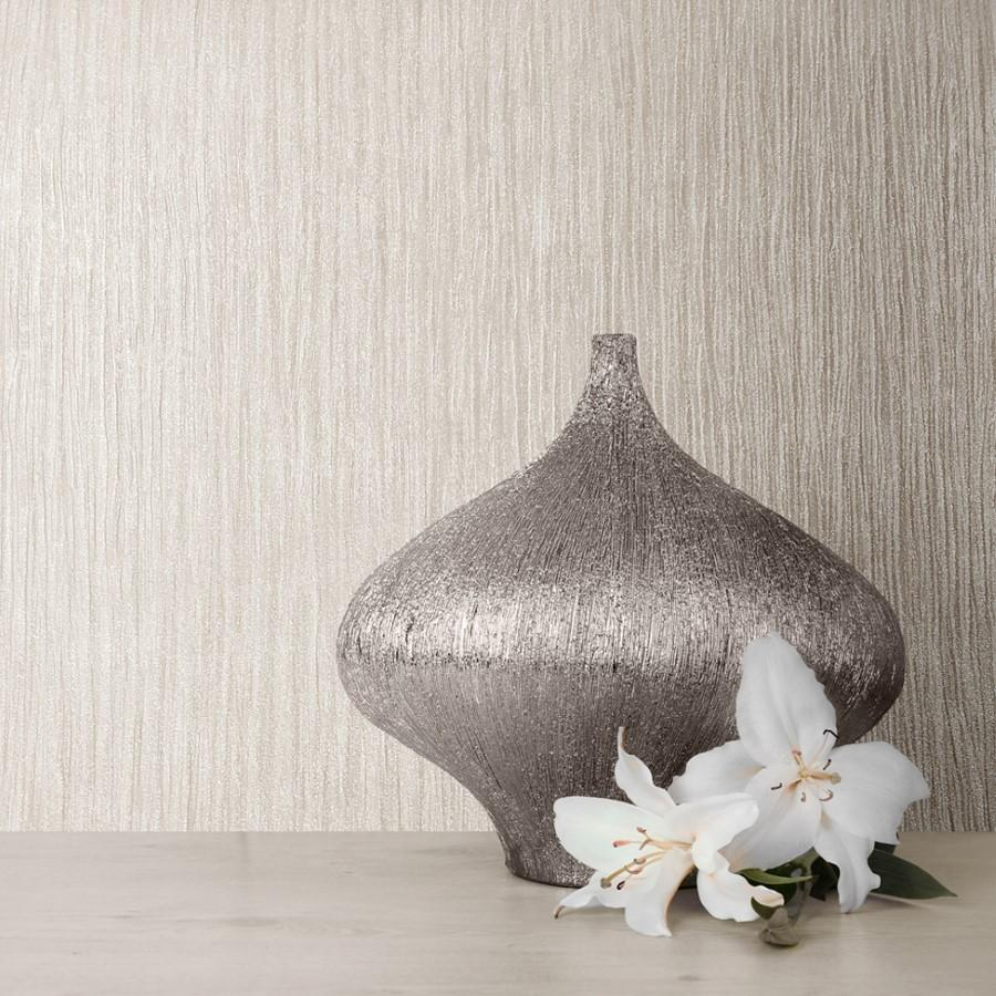Muriva Wallpapers Texture Lustre Truffle Wallpaper