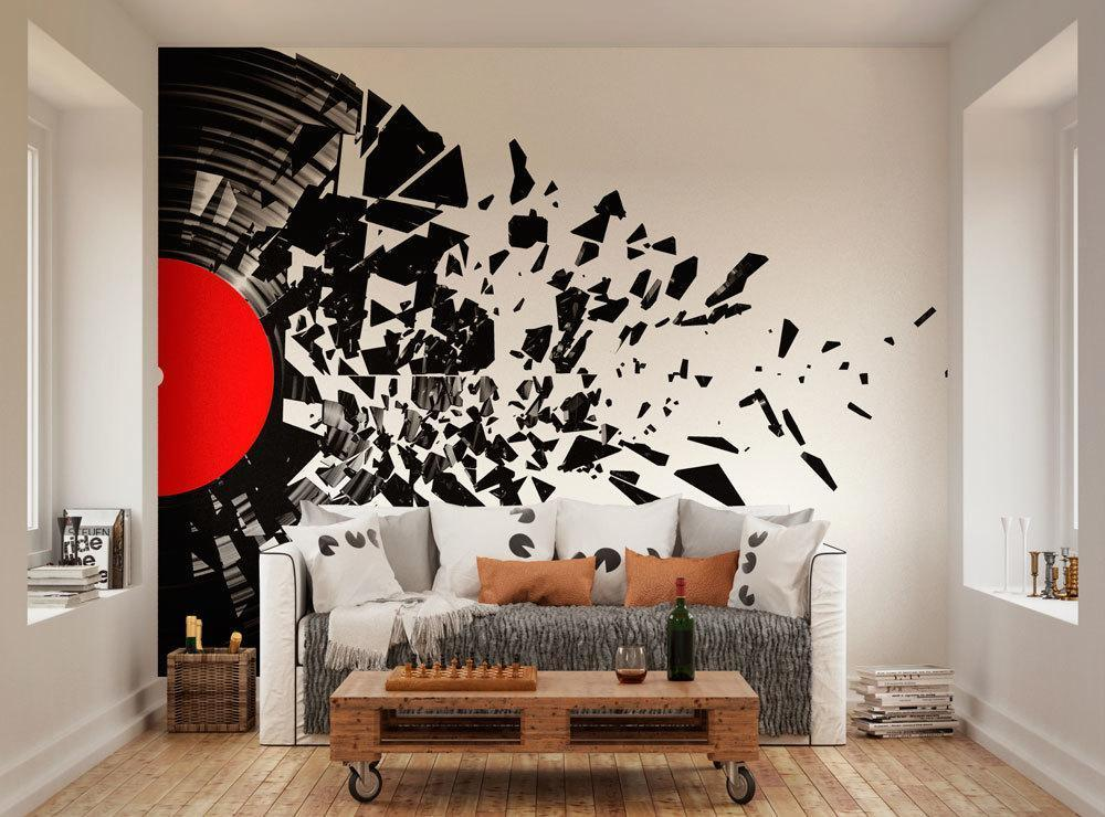 Smashed Record Vinyl Mural Oh Popsi Paste The Wall Murals