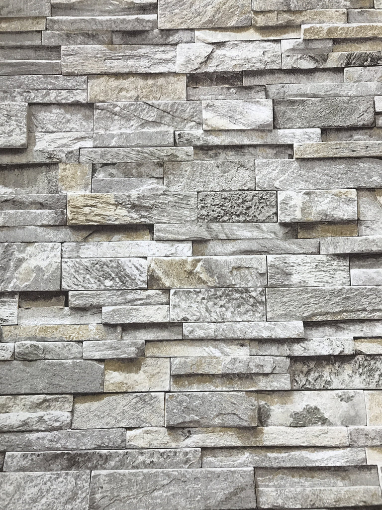 P+S International Wallpapers Sweet & Cool Slate Stone Natural Wallpaper