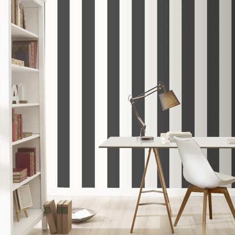 Rasch Wallpapers Black and White Stripe Wallpaper