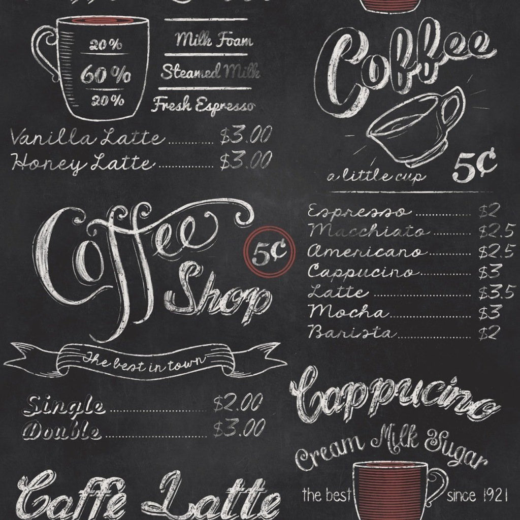 Rasch Wallpapers Coffee Shop Chalkboard Wallpaper