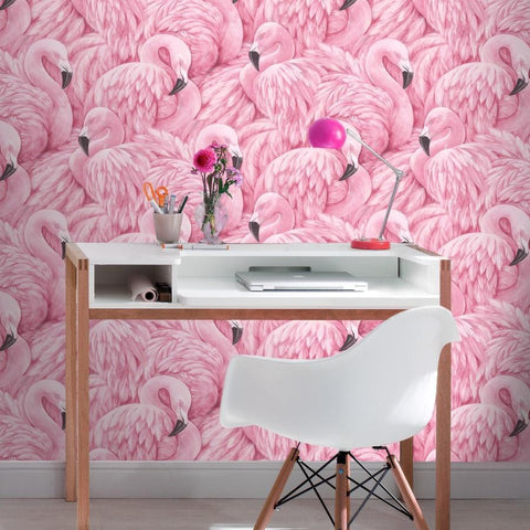 Rasch Wallpapers Portfolio Pink Flamingos Wallpaper