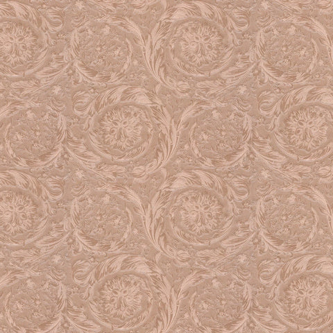 Versace Barocco Metallic Rose Gold Floral Wallpaper