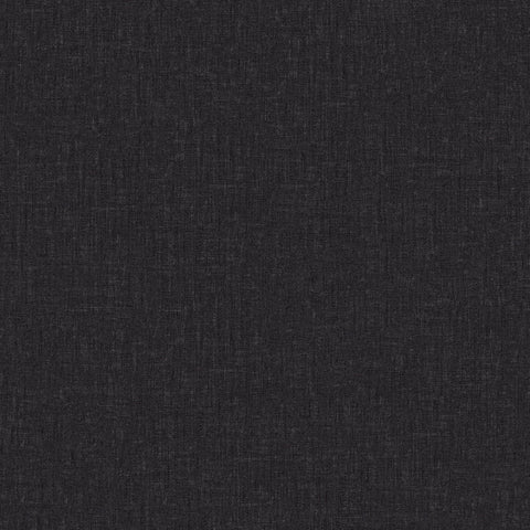 Versace Black Linen Texture Wallpaper