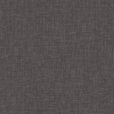 Versace Charcoal Linen Texture Wallpaper