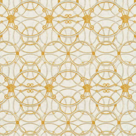 Versace Cream and Silver La Scala Del Palazzo Wallpaper