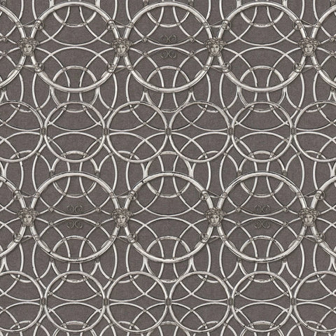 Versace Grey and Silver La Scala Del Palazzo Wallpaper