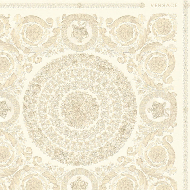 Versace Heritage Ivory and Beige Tile Wallpaper
