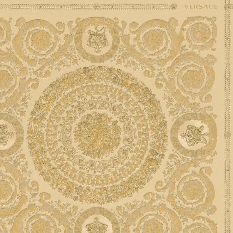 Versace Heritage Gold Tile Wallpaper