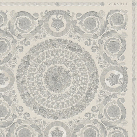 Versace Heritage Grey Tile Wallpaper