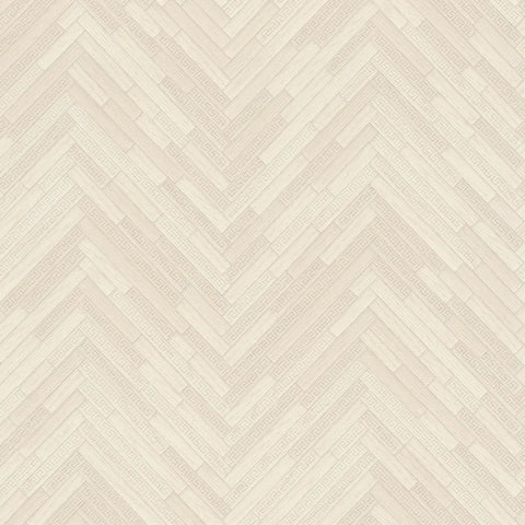 Versace Ivory Wood Panel Wallpaper