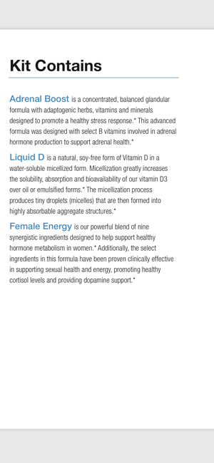 * PD Labs Female Vitality Kit- Female Health