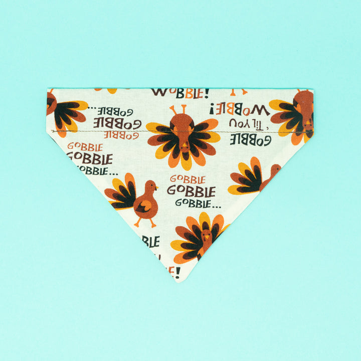 Gobble Gobble Turkey Dog Bandana - The Woof Warehouse