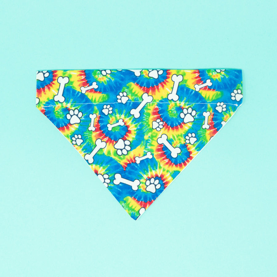Doggy Tie Dye Dog Bandana - The Woof Warehouse