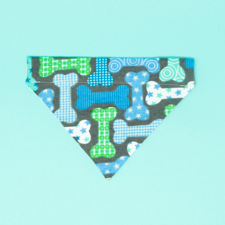 Blue Dog Bones Dog Bandana - The Woof Warehouse